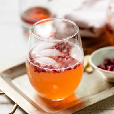 Hard Apple Cider Ginger Spritz Cocktail