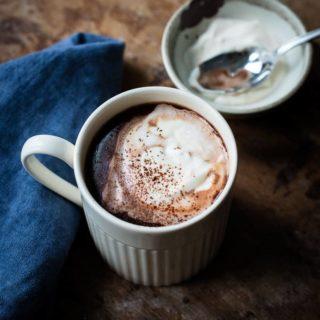Dessert in a cup - Creamy Rich Hot Chocolate