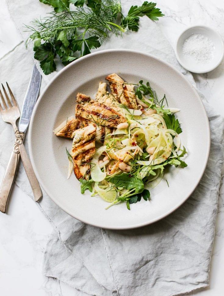 Buttermilk Chicken Breasts with Fennel Salad