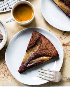 Flourless Chocolate Pear Cake