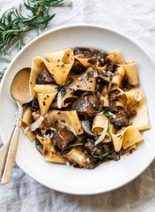 Papparedelle Pasta with Mushroom Ragu