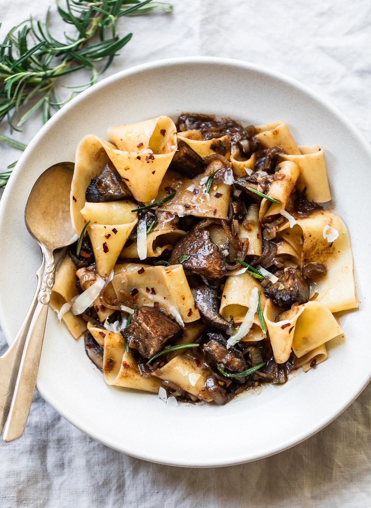 Pappardelle Pasta with Wild Mushroom Ragu