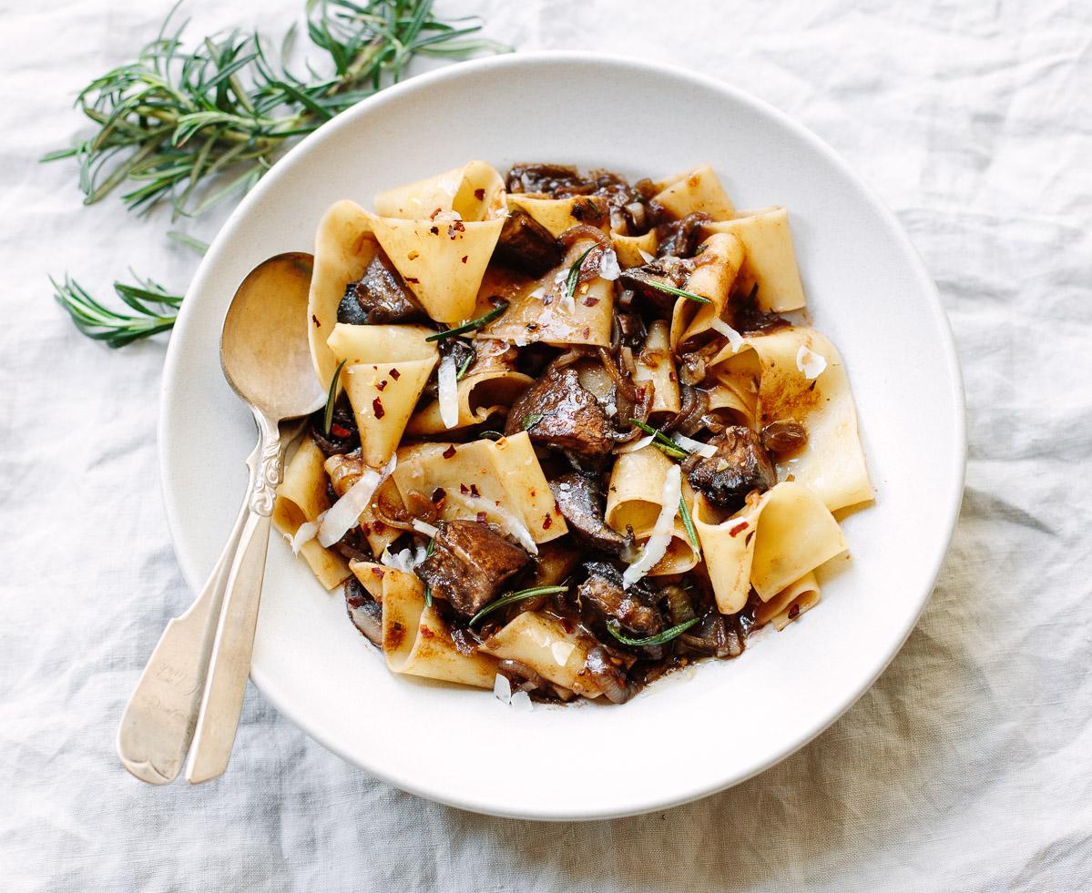 Pappardelle Pasta with Portobello Mushroom Ragu