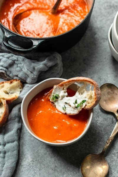 Creamy Roasted Tomato Soup (Dairy-free)