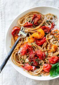 Burst Cherry Tomato Pasta with Ricotta