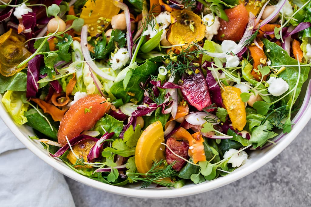Food photography - Vibrant Winter Salad
