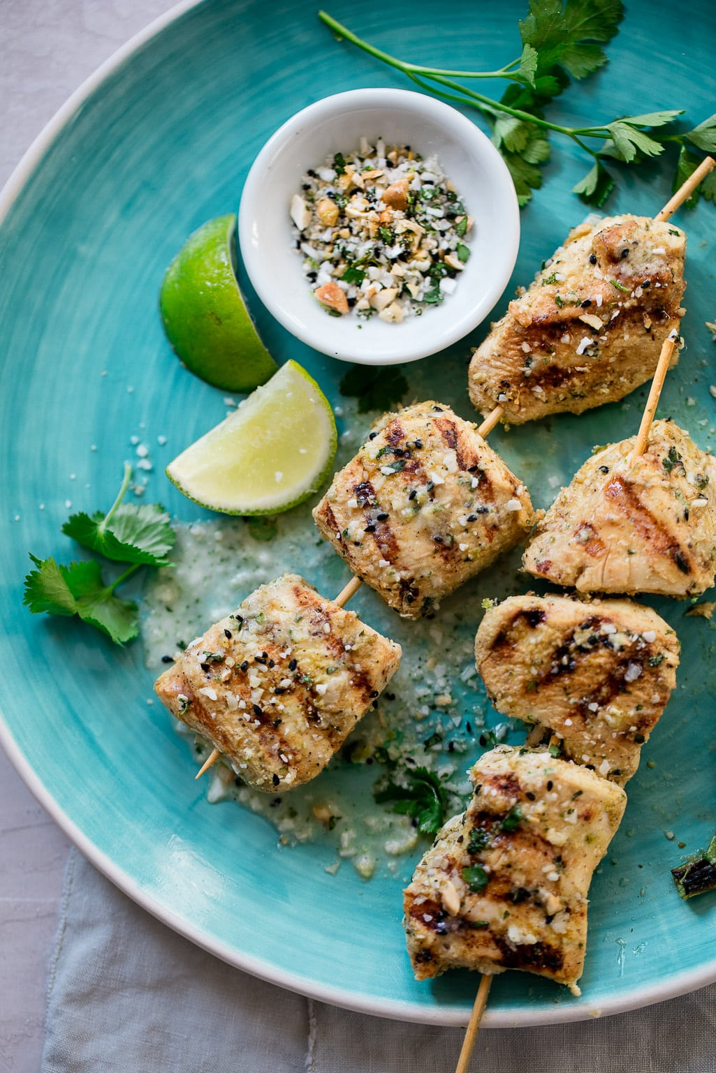 Whole 30 Coconut Lime Chicken Skewers