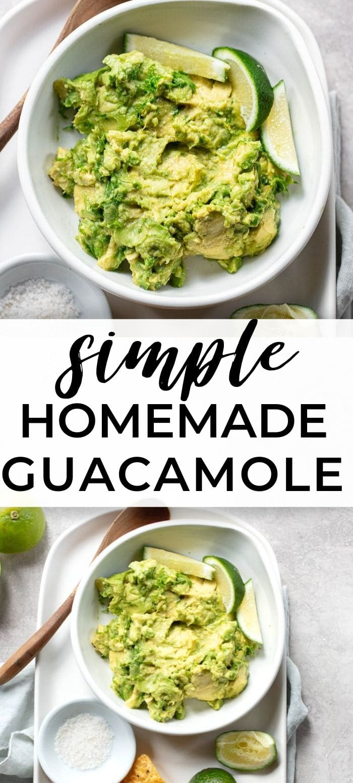 Three Ingredient Guacamole: Quick and easy recipe for the best guac!