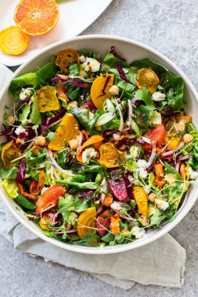 Winter Citrus Salad with Roasted Beets and Goat Cheese