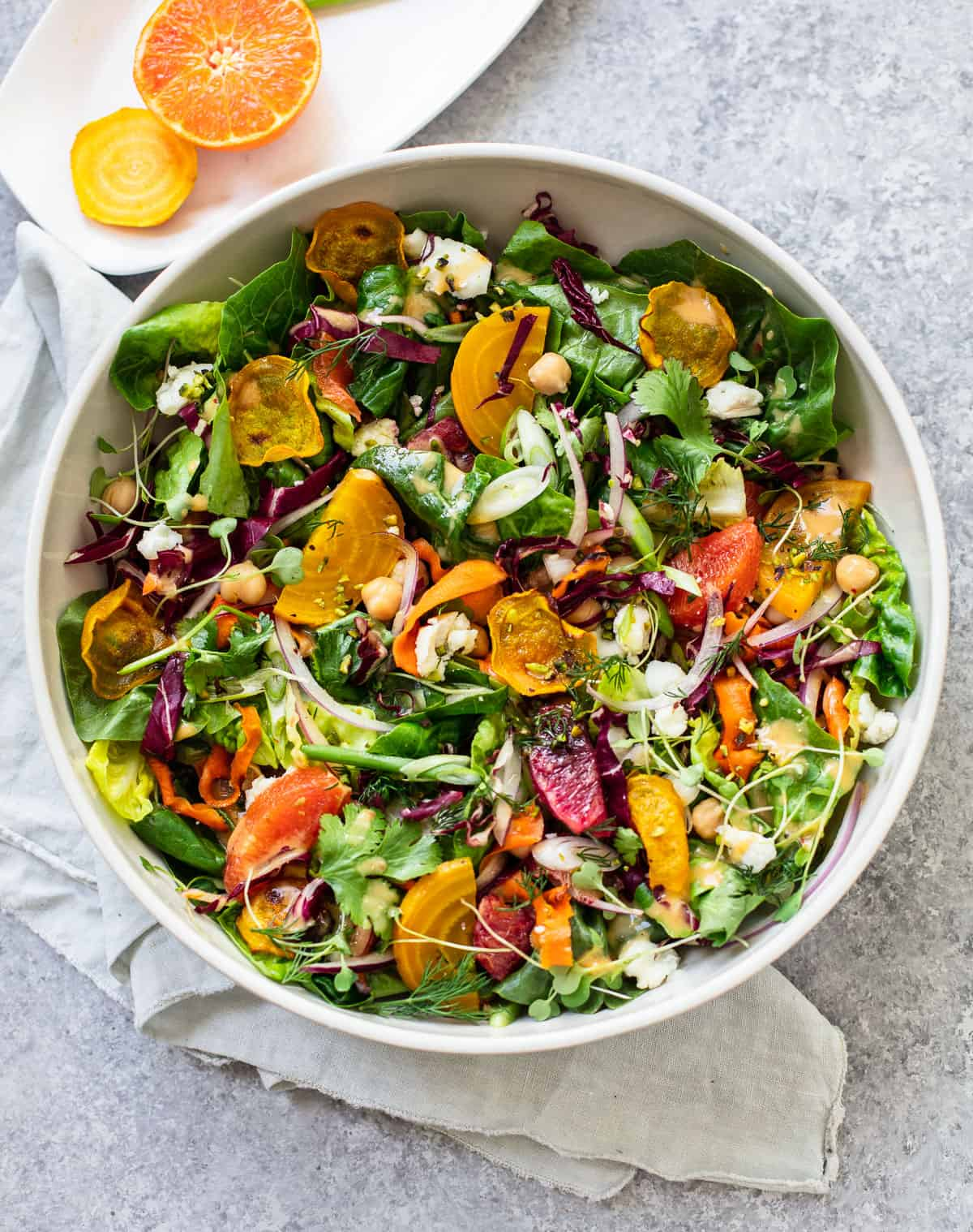 Winter Citrus Salad with Roasted Carrots and Goat Cheese