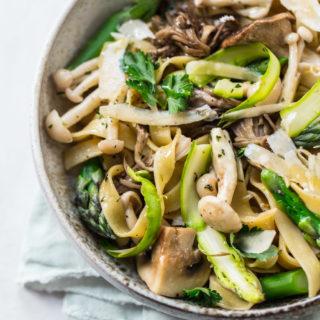 Asparagus and Wild Mushroom Pasta