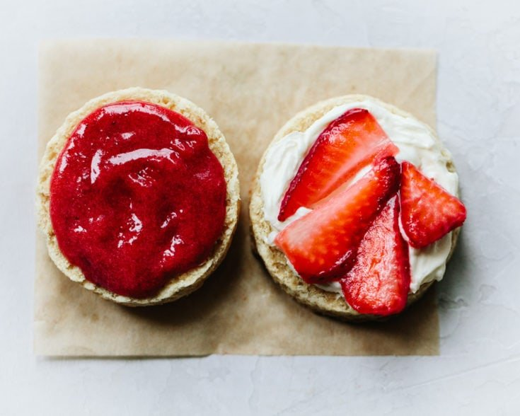 Flaky Buttermilk Scones with Strawberries and Cream