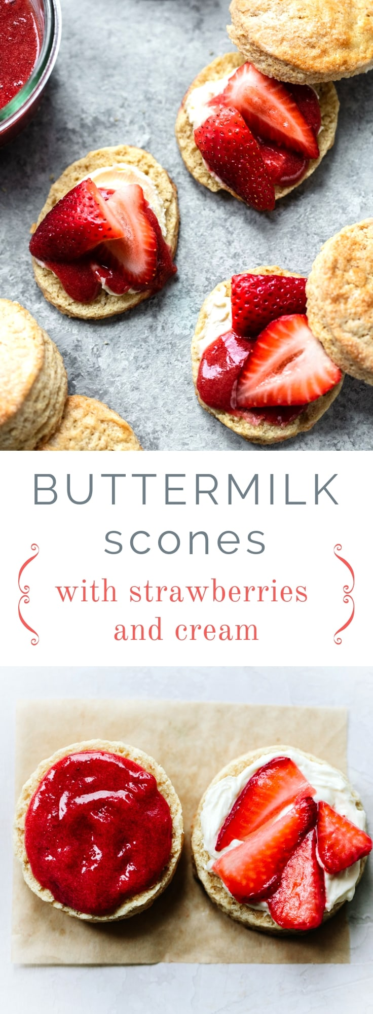 Flaky Buttermilk Scones with Strawberries and Mascarpone