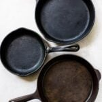 Learn how to season a cast iron pan.