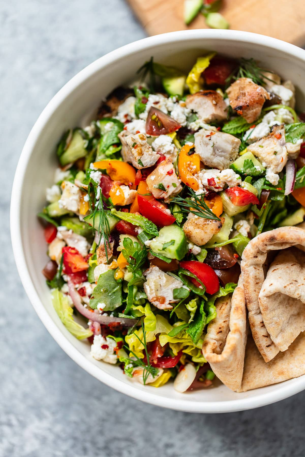 Chopped Chicken Shawarma Salad Recipe