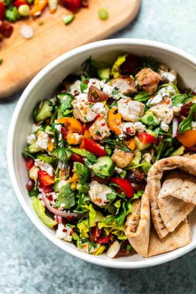 Chopped Chicken Shawarma Salad with Feta
