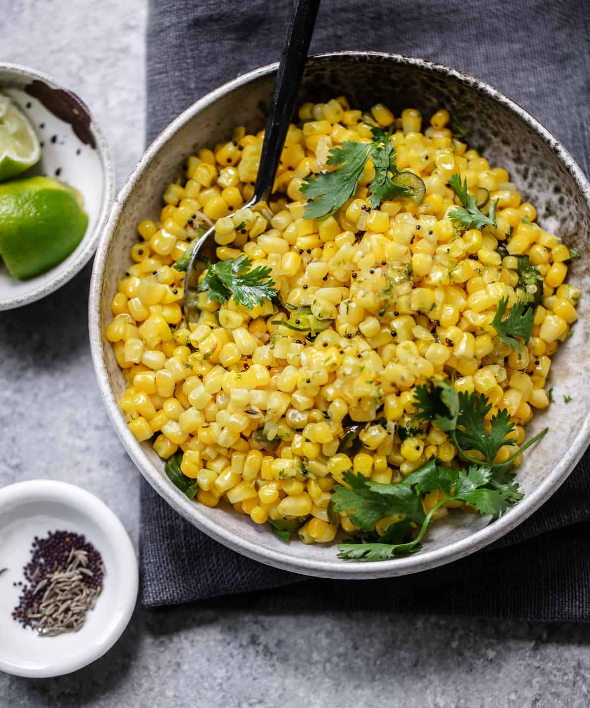 Spicy Sweet Corn with Cilantro and Lime