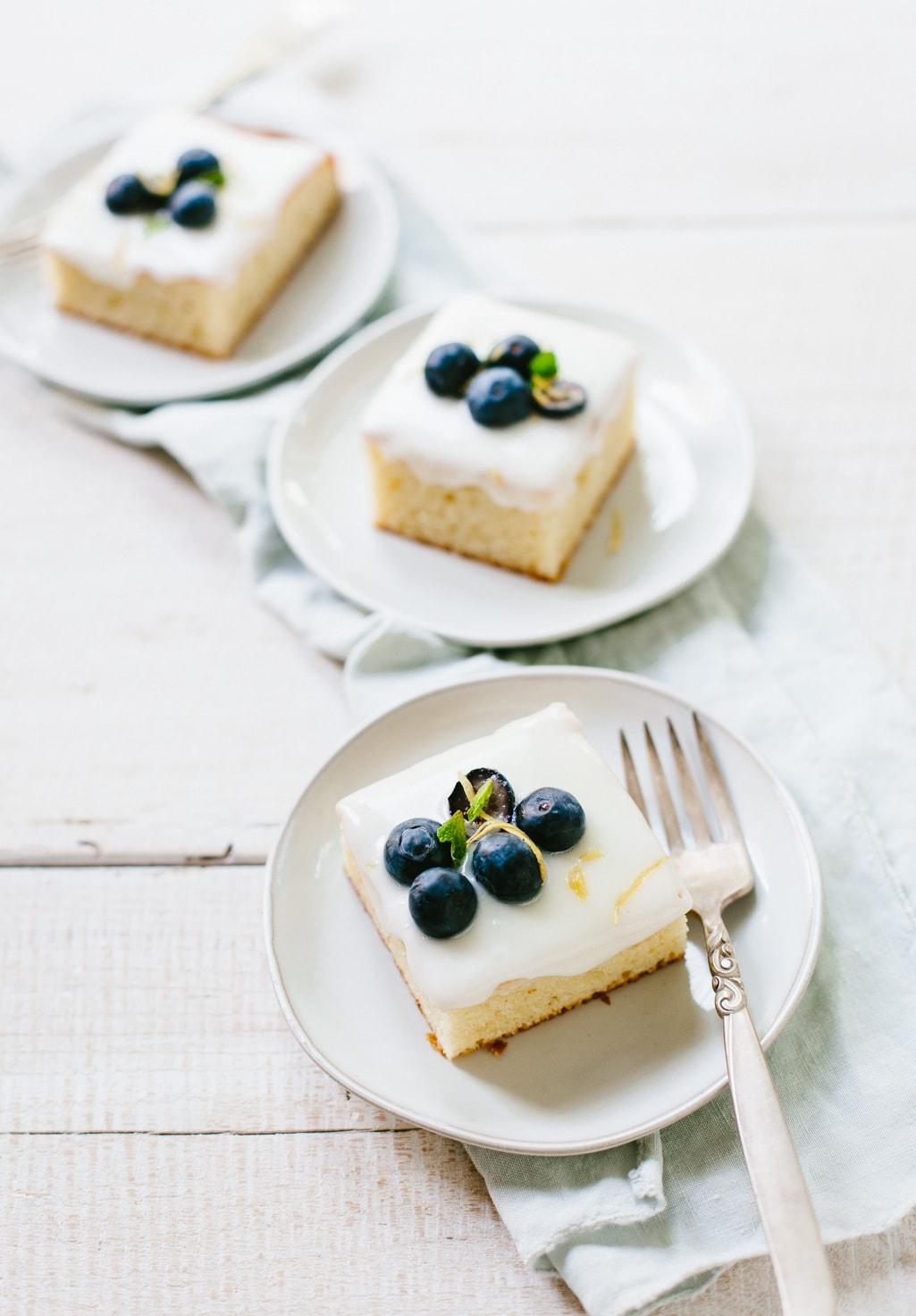 Blueberry Lemon Sheet Cake