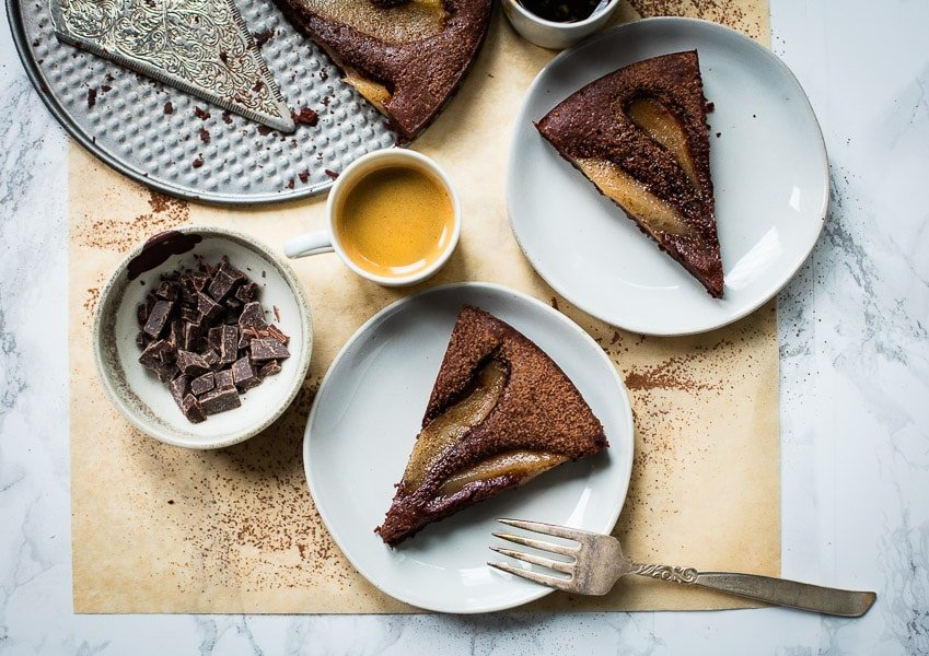 Food Photography Sample - Chocolate Pear Cake