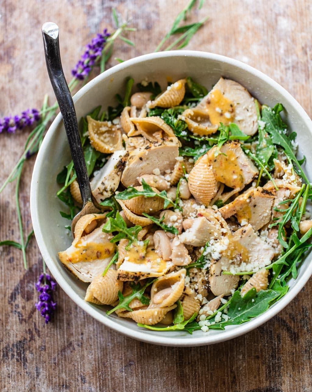 Dijon Chicken Pasta Salad with Herbs de Provence