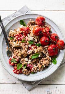 Mediterranean Grain Bowl with Roasted Vegetables
