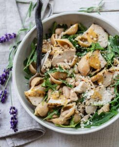 Pasta Salad with Herbs de Provence Chicken and Dijon Dressing