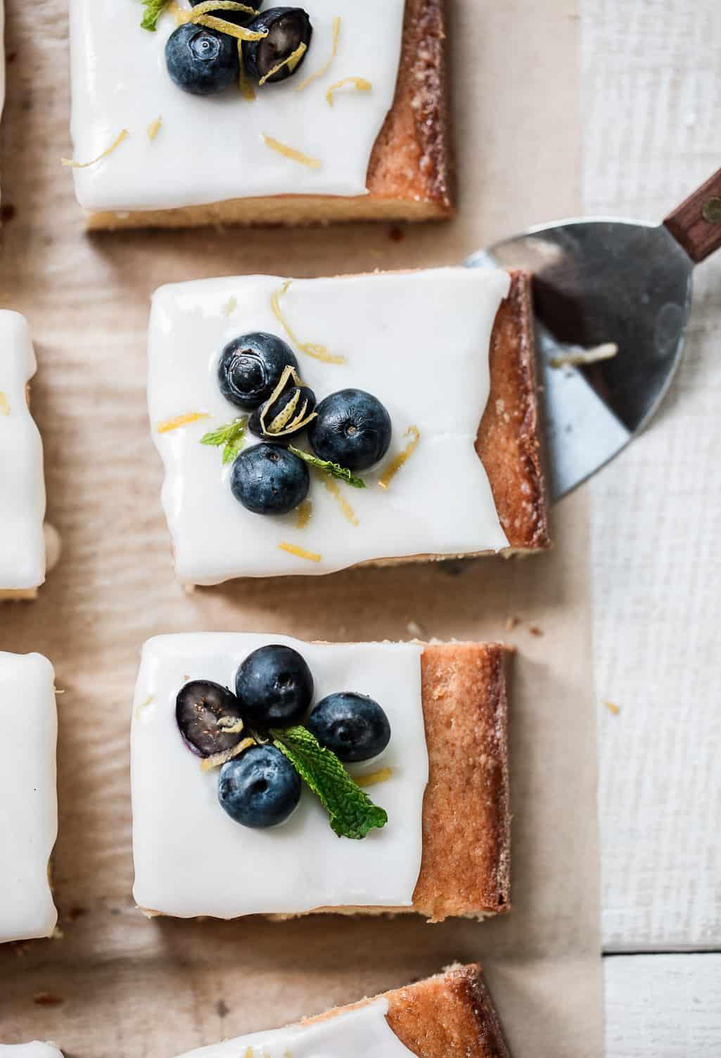 Blueberry Lemon Sheet Cake with Mascarpone