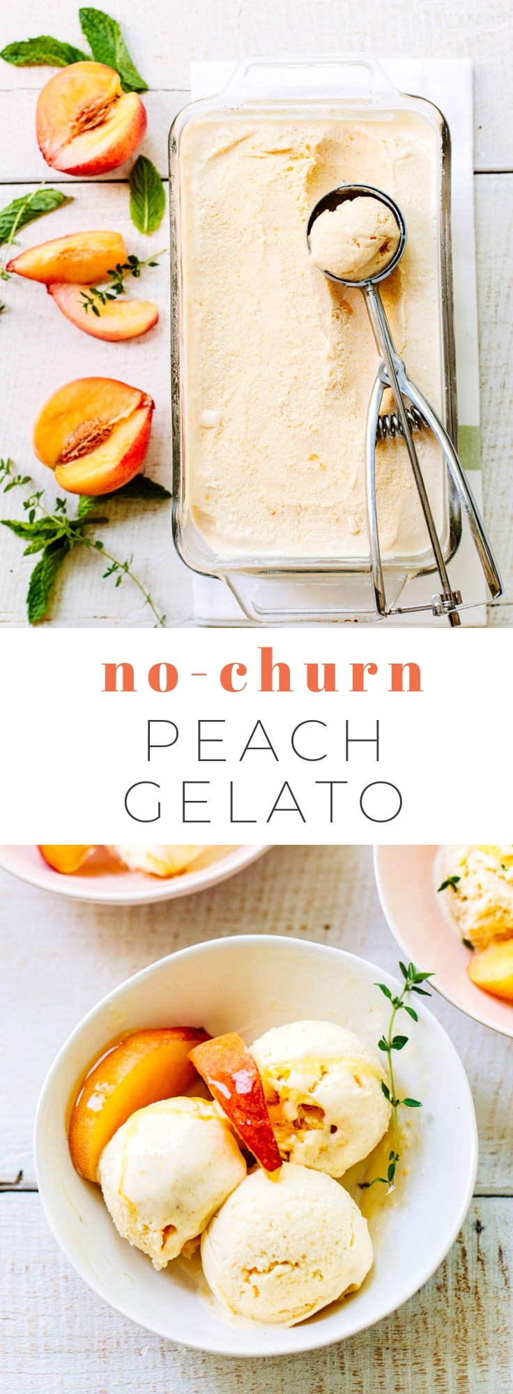 Easy Homemade No-Churn Peach Ice Cream
