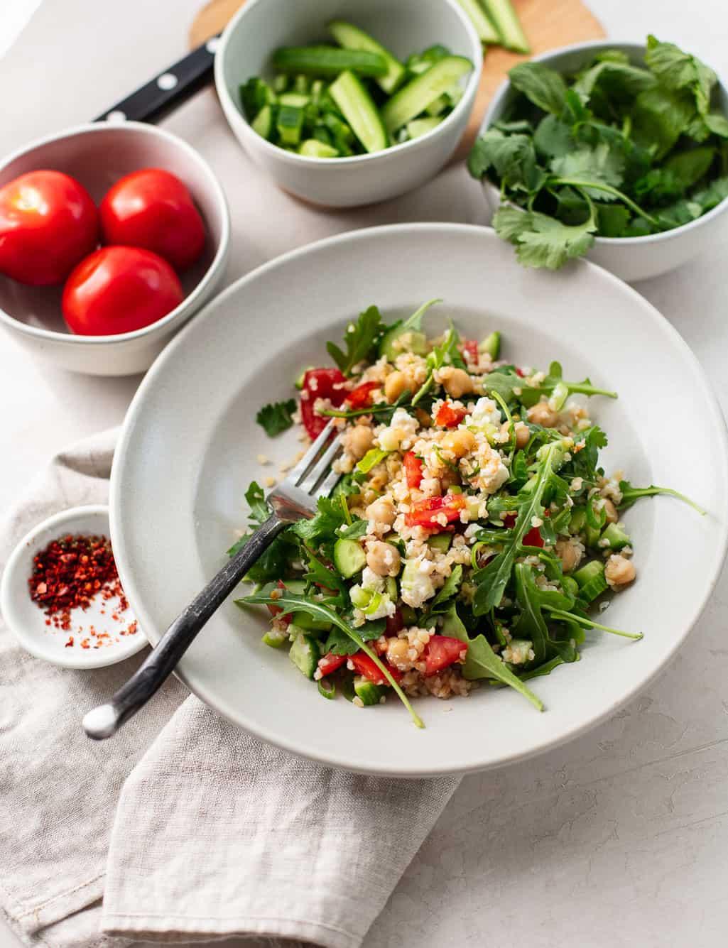 Healthy Refrigerator Tabbouli Salad
