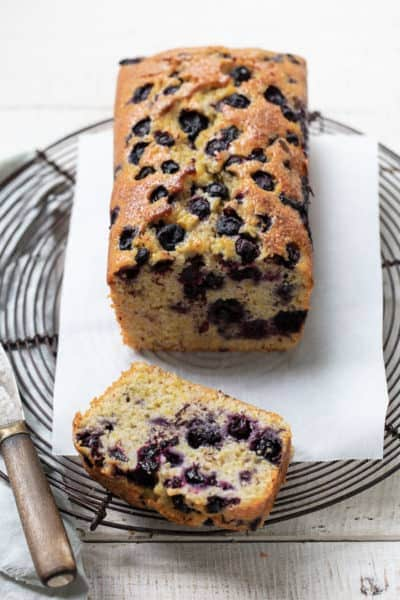 Blueberry Cornmeal Loaf Cake