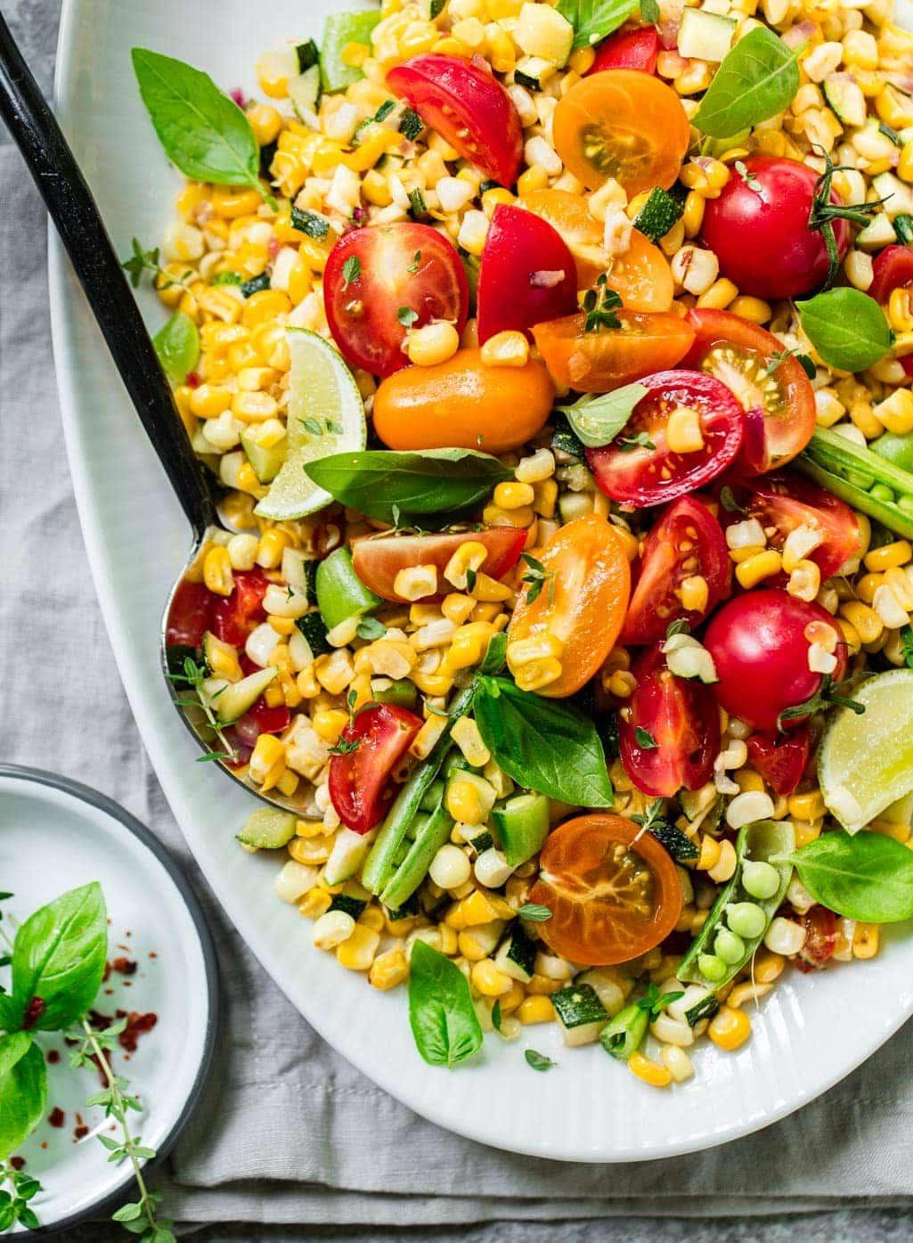 Roasted Summer Corn and Tomato Salad