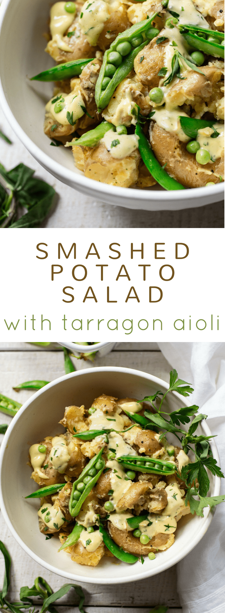 Smashed Potato Salad with Tarragon Aioli #easy #recipe #potluck #salad #healthy #best