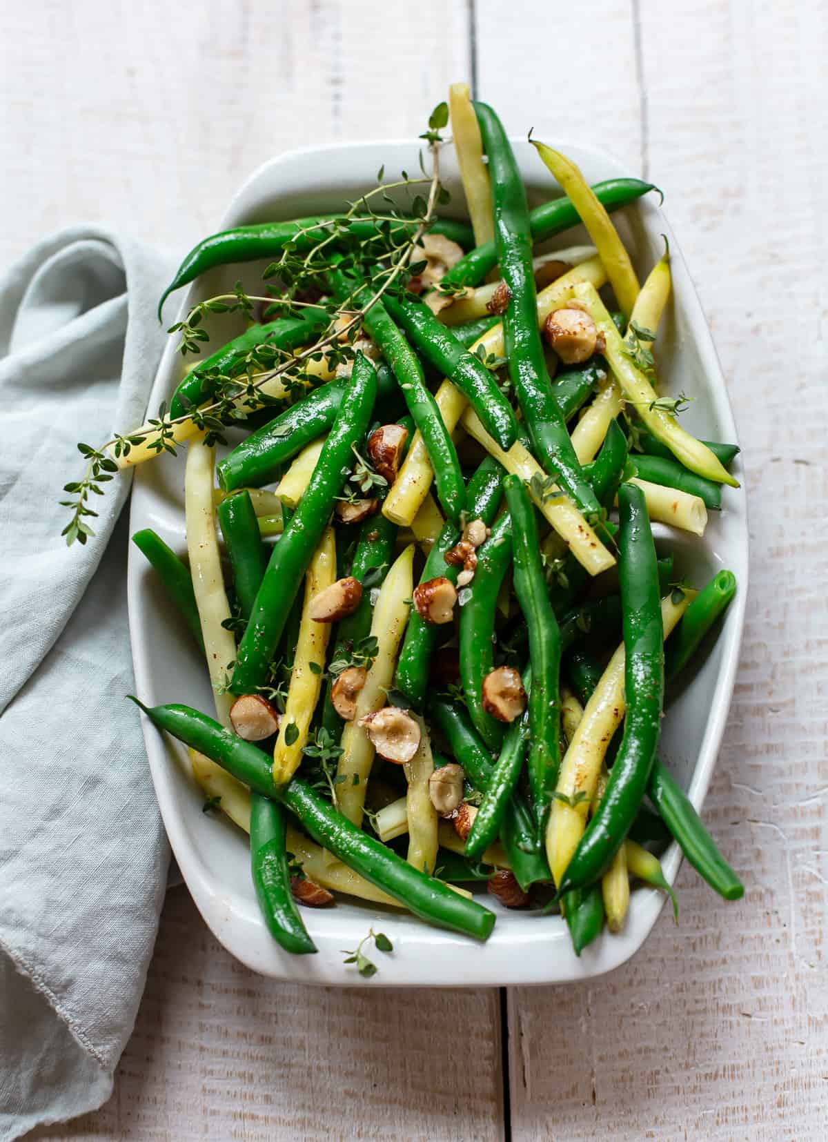 Brown Butter Green Beans with Hazelnuts and Thyme