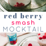 Coconut and Red Berry Mocktail Smash #cocktails #a