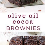 Olive Oil and Cocoa Brownies