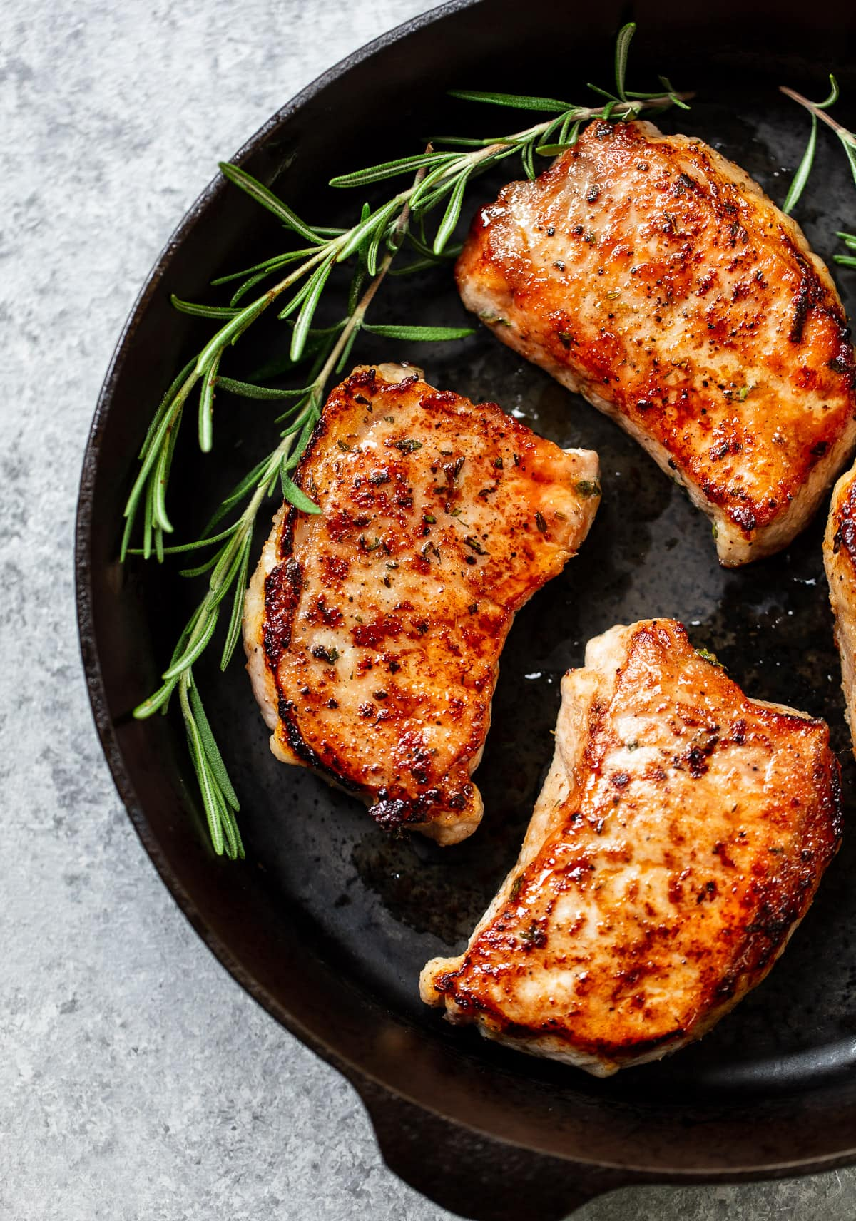 Incredible Rosemary Brown Sugar Pork Chops