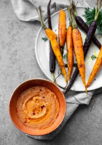 Spice Roasted Carrots with Red Pepper Whipped Feta