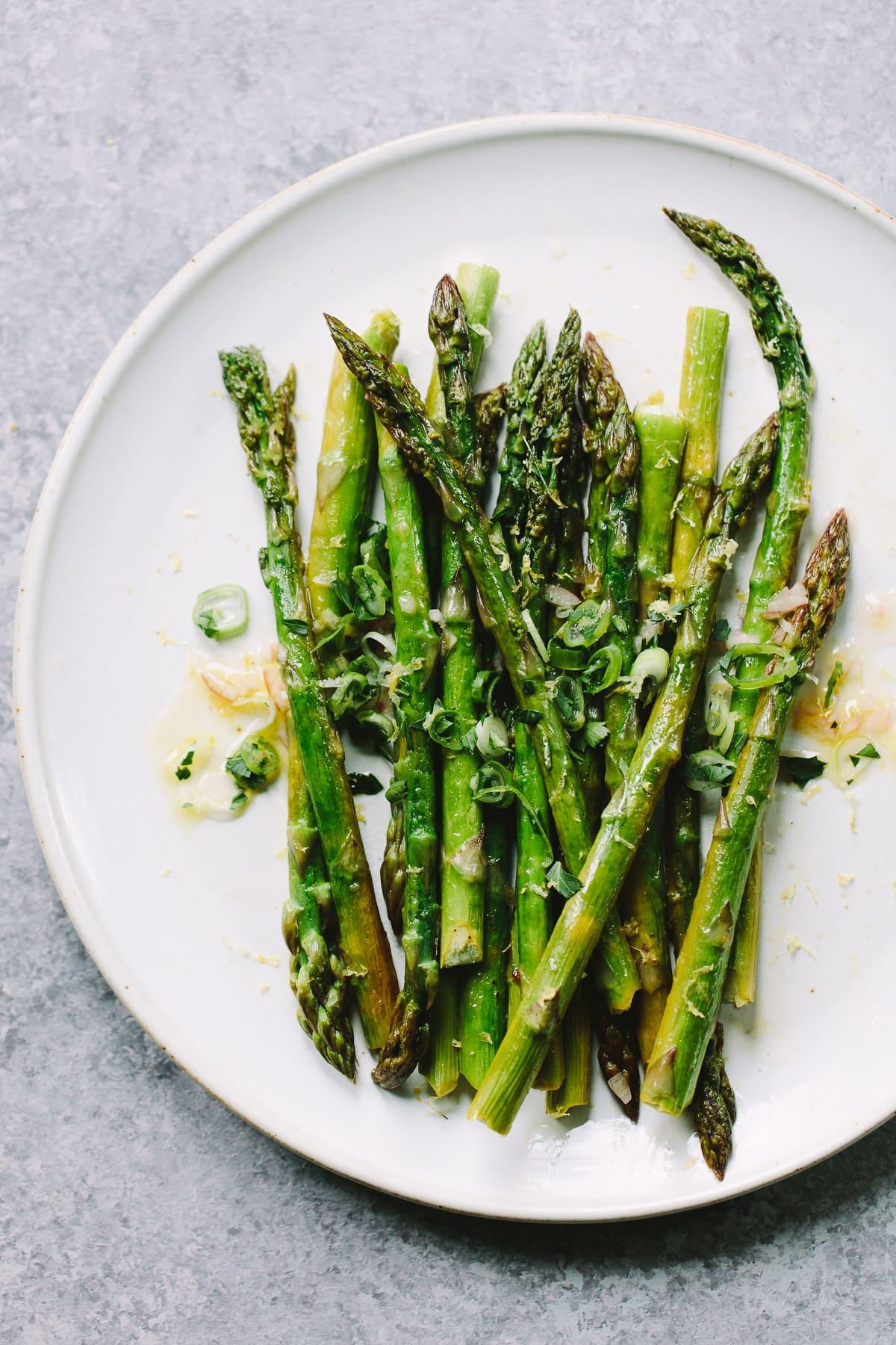 Roasted Asparagus in Vinaigrette