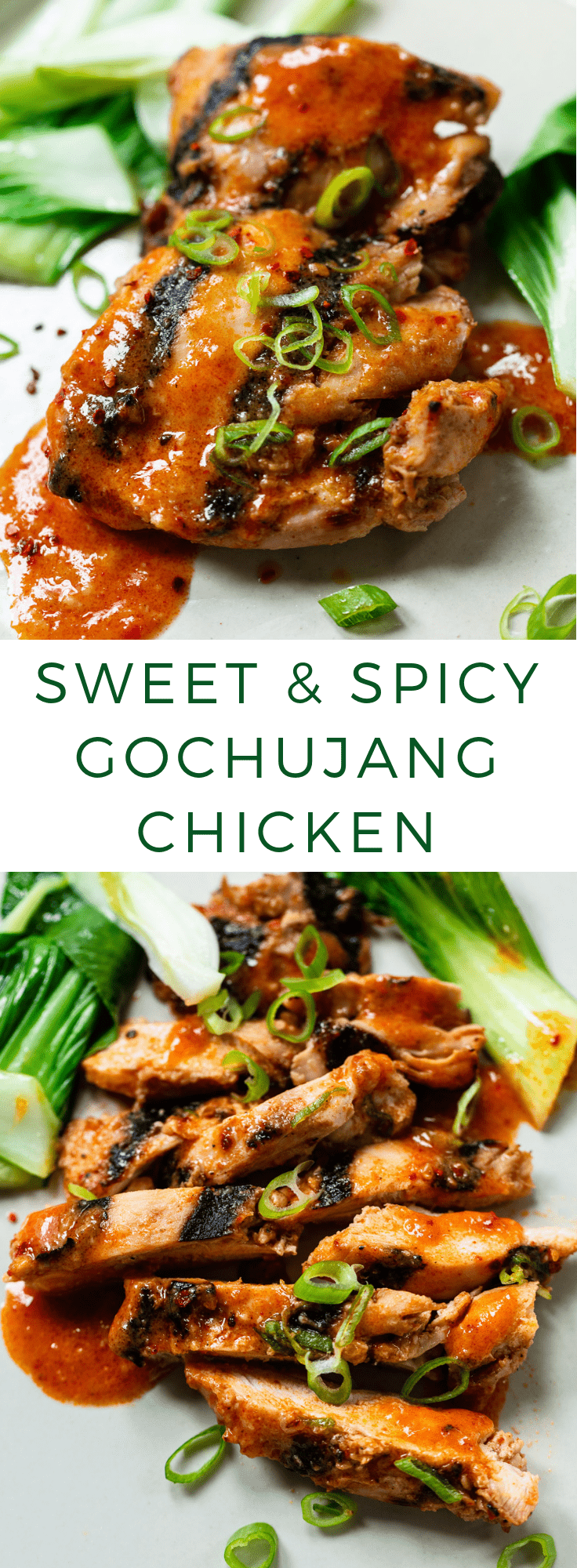 Easy Sweet and Spicy Gochujang Chicken #lowcarb #quick #dinner #healthy #korean #weeknight