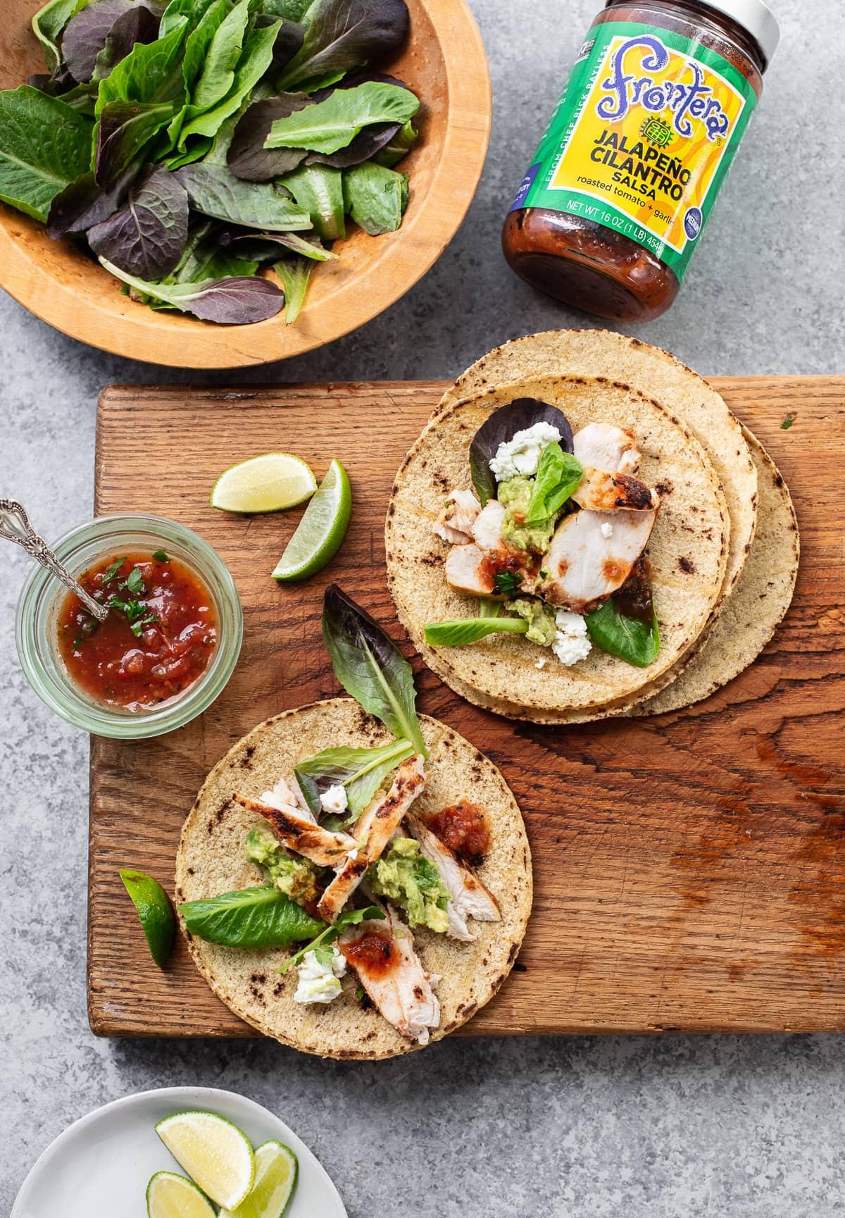 Cilantro-Lime Chicken Tacos