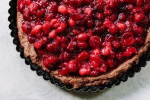 Chocolate Cranberry Tart