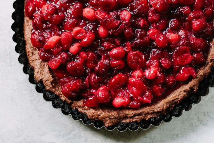 Creamy Chocolate Cranberry Tart