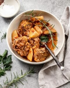 Italian Slow Cooker Pork with Rosemary Potatoes