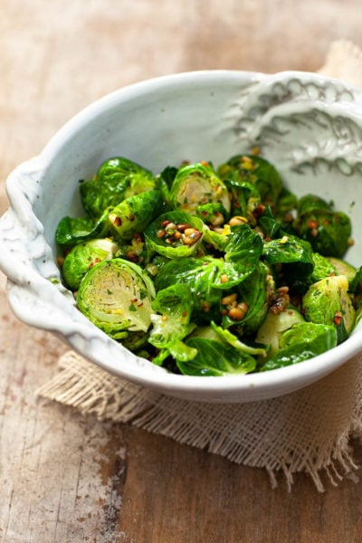 Brussels Sprouts with Lemon Gremolata