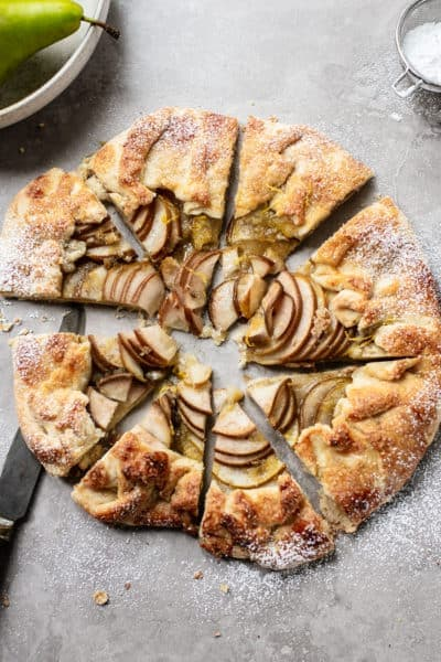 Lemon Ginger Pear Crostata