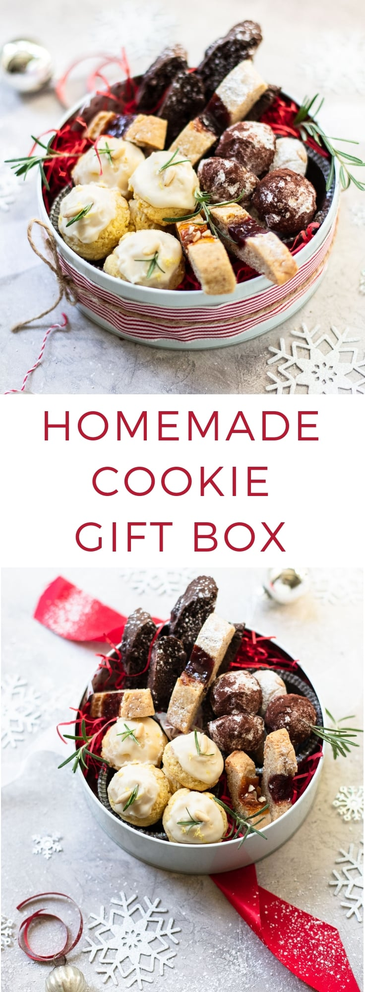 How to Make a Pretty Homemade Christmas Cookie Gift Box