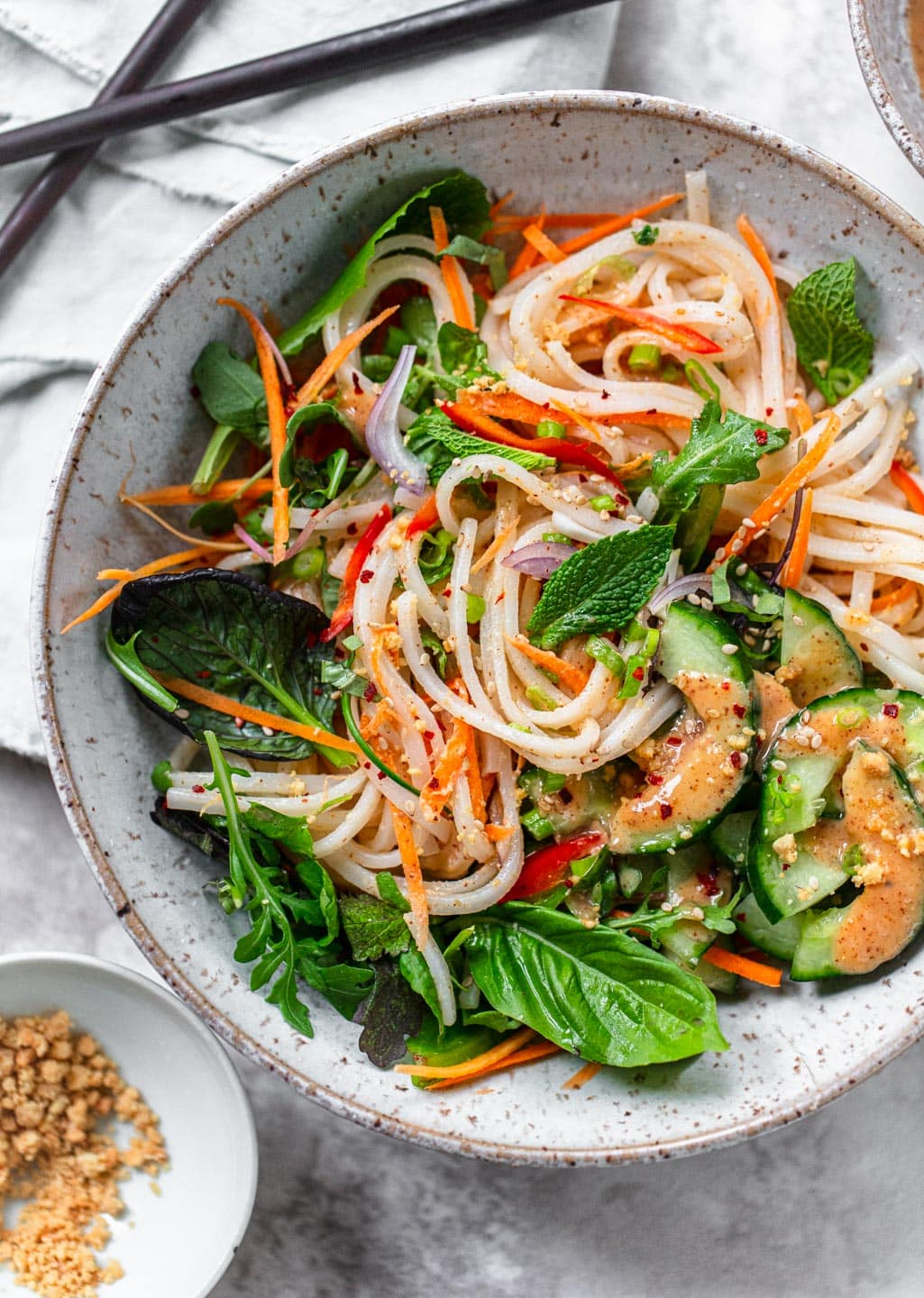 Fresh Summer Roll Noodle Bowl