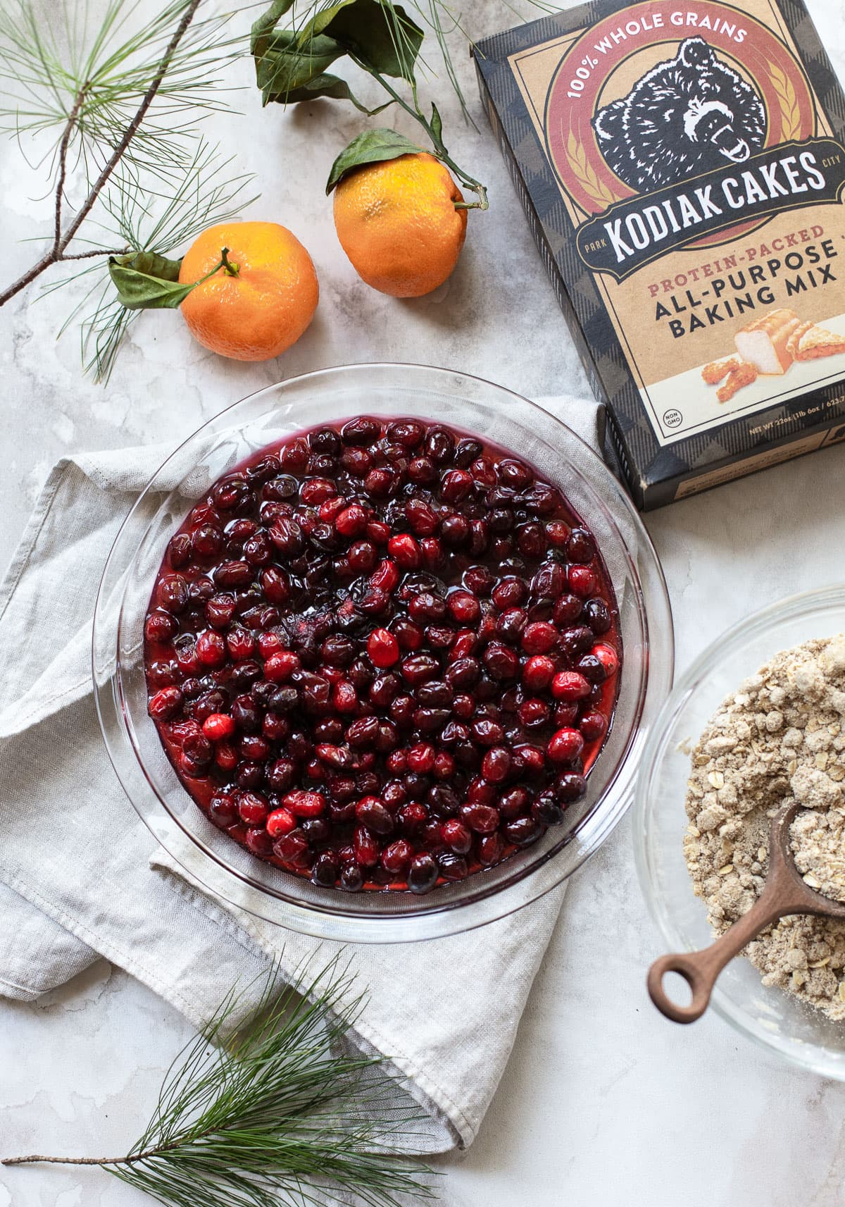 Warm Orange Cranberry Crumble