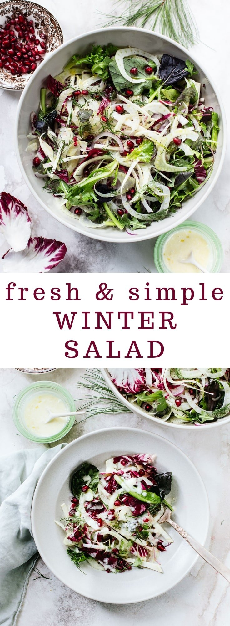 Winter Salad with Shaved Fennel and Pomegranate