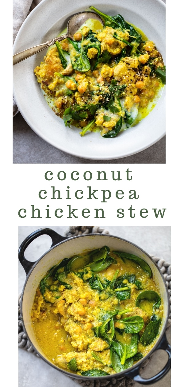 Spiced Coconut Chicken with Chickpeas and Cauliflower {Slow Cooker or Instant Pot}